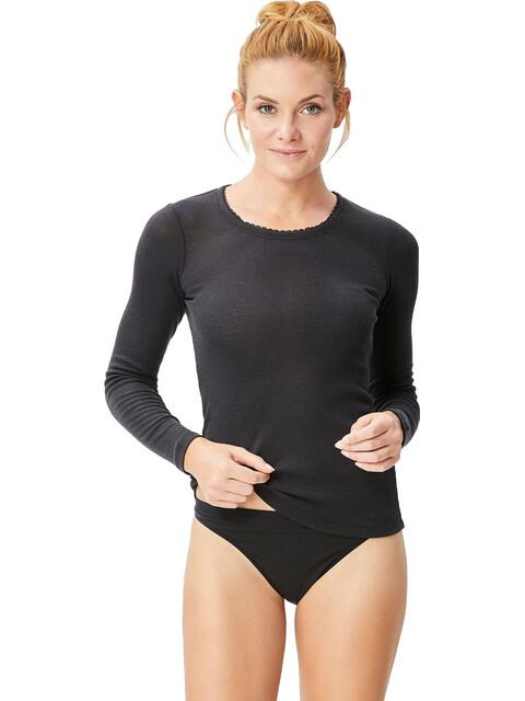 super.natural Scarlett Rib LS 165 Shirt Women Caviar